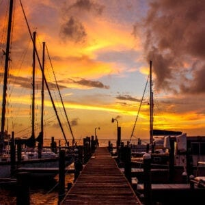 Gulf Breeze Dock Sunset