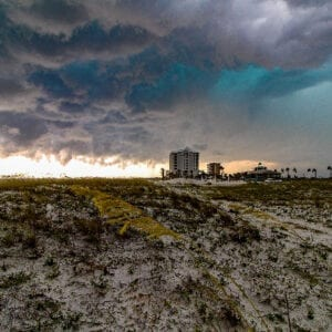 Storm Rolling Over Pensacola Beach