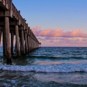Pensacola Pier Cotton Candy Sunset