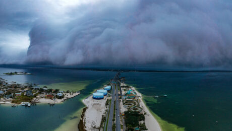 Panoramic Beach Shelf Cloud